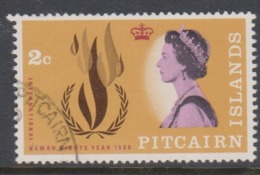 Pitcairn Islands  Scott 89 1968 Human Rights,2d,used - Stamps