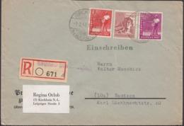 Germany - Allied Occupt. Allierte Bz. Einschreiben MiF Brief, KIRCHHAIN (Niederlausitz) 1.3.1948 - Bautzen. - Zone AAS