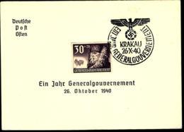 GENERALGOUVERNEMENT - 1940 - DEUTSCHE POST OSTEN - - Briefe U. Dokumente