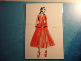 1 Carte Postale De Mode - Moda