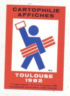 Cp, Bourses & Salons De Collections, Cartophilie ,affiches, TOULOUSE , 1982 ,illustrateur F.R. Gastou - Bourses & Salons De Collections