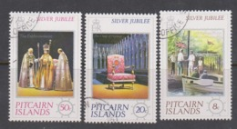 Pitcairn Islands  Scott 160-162 1977 Royal Visit,used - Stamps