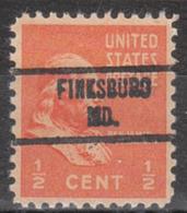 USA Precancel Vorausentwertung Preo, Locals Maryland, Finksburg 734 - Vereinigte Staaten