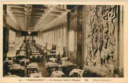 Bateaux - Paquebot - Normandie - La Grande Salle à Manger - Voir Scans Recto-Verso - Steamers
