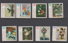 Poland Scott 2940-2947 1989 Paintings Flowers,mint Never Hinged Set - Used Stamps