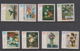 Poland Scott 2940-2947 1989 Paintings Flowers,mint Never Hinged Set - 1944-.... Republic