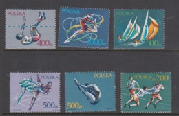 Poland Scott 2959-2964 1990 Sports,mint Never Hinged Set - Used Stamps