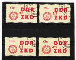 YZO913 DDR 1964 LAUFKONTROLLZETTEL ZKD Michl 32 I - IV Gestempelt  ZÄHNUNG Siehe ABBILDUNG - Dienstpost