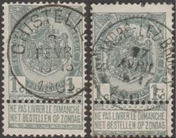 Belgique 1893 COB / Y&T 53 Oblitérés St André Lez Bruges (relais, étoiles) Et Ghistelles. Superbes - Poststempels/ Marcofilie