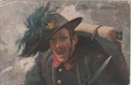 Rare Cpa Avanti Savoia Chasseur Alpin Italien 1915 - 1914-18