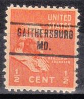 USA Precancel Vorausentwertung Preo, Locals Maryland, Gaithersburg 734 - Vereinigte Staaten