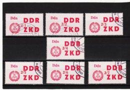 YZO911 DDR 1964 LAUFKONTROLLZETTEL ZKD Michl 33 I - VII Gestempelt  ZÄHNUNG Siehe ABBILDUNG - Dienstpost