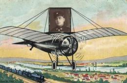 Fantaisie Portrait Militaire Dans Un Avion RV - Hommes