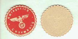 OCCUPATION ALLEMANDE DU LUXEMBOURG WWII VIGNETTE GAUFREE ET GOMMEE TRIBUNAL DE DISTRICT AMTSGERICHT LUXEMBURG 1940 - Documents
