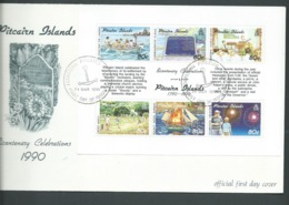 Pitcairn Islands 1991 Bicentenary Miniature Sheet On FDC Fine Official Unaddressed - Stamps