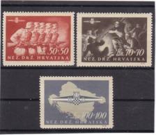 E.10521 Croatia 1945 Full Set MLH, Michel 1640 - 42: WW2, Soldiers, Sturmdivision - Kroatien