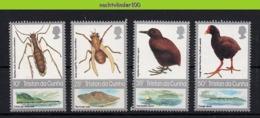 Nff051 FAUNA VOGELS INSEKTEN INSECTS MOTH FLY RAIL MOORHEN BIRDS VÖGEL AVES OISEAUX TRISTAN DA CUNHA 1987 PF/MNH - Collections, Lots & Series