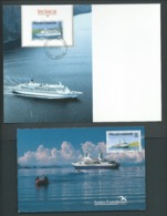 Pitcairn Islands 1991 Cruise Ships Set 4 FU On Matching Maxi Cards, 5/3/1992 Cds - Stamps