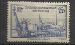 France N°   426   Exposition Internationale New York    Neuf * * TB  = MNH  VF   Soldé  à  Moins De 15 % ! ! ! - Francia