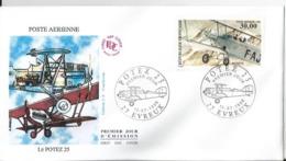 Enveloppe FDC - France - Potez 25 - PA62 - Poste Aérienne30 Francs - 1998  - - 1990-1999