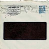 TP N ° 718A  Perforés CG Sur Enveloppe De La Compagnie Générale Industrielle - France