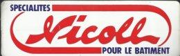 Autocollant - Nicoll - Spécialités Pour Le Batiment - Autocollants