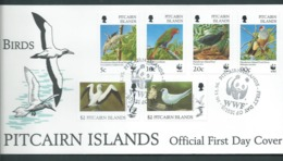 Pitcairn Islands 1996 Birds Set Of 6 On FDC Official Unaddressed - Stamps