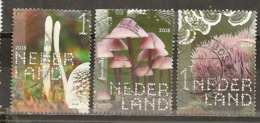 Pays-Bas Netherlands 2018 Champignons Mushrooms Obl (all 3 Stamps Have Minor Faults) - Periode 2013-... (Willem-Alexander)