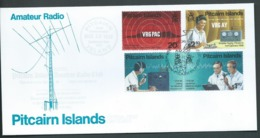 Pitcairn Islands 1995 Amateur Radio Club Set Of 4 On FDC Official Unaddressed - Stamps