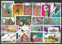 5801 - Lot Timbres Mongolie - Briefmarken