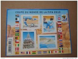 2010   F4481 * *    Nos YT  4481/4484  COUPE DU MONDE  2010 - Blocs & Feuillets