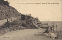 CPA Plage De Saint Laurent Plérin 22 Arrivée Train De St Brieuc Ed Thiel Cachet Guerre 14 155 Infanterie Dépôt - Plérin / Saint-Laurent-de-la-Mer