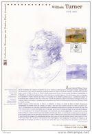 """"""" WILLIAM TURNER """" Sur Document Philatélique Officiel 1°Jour De 2010. N° YT F4438. Prix à La Poste = 5 €. DPO - 2010-...."""