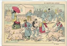 Illustrateur Le Marché Aux Cochons RV - Cochons