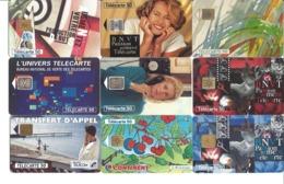 Lot De 50 Télécartes De France Uniquement - Toutes Différentes - Voir Scan - Télécartes