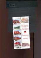 Belgie  4056/60 MNH Postal Vehicles Train Truck Bus Met Velrand Rechts - Ongebruikt