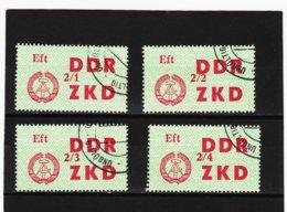 YZO914 DDR 1964 LAUFKONTROLLZETTEL ZKD Michl 34 I - IV Gestempelt  ZÄHNUNG Siehe ABBILDUNG - Dienstpost