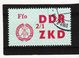 YZO915 DDR 1964 LAUFKONTROLLZETTEL ZKD Michl 35  Gestempelt  ZÄHNUNG Siehe ABBILDUNG - Dienstpost