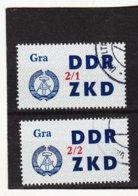 YZO916 DDR 1964 LAUFKONTROLLZETTEL ZKD Michl 36 I + II  Gestempelt  ZÄHNUNG Siehe ABBILDUNG - Dienstpost