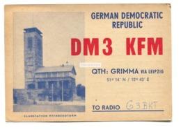 Grimma, German Democratic Republic - DM3 KFM, Clubstation Weinbergtum - Amateur Radio QSL Card From 1957 - Radio-amateur