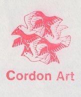 Meter Cover Netherlands 1989 Cordon Art - M.C. Escher - Birds - Unclassified