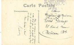 29-cachet Hôpital Temp N°43 Douarnenez Sur CP En 1915 - WW I