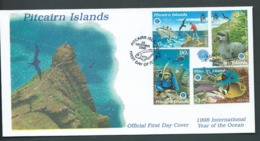 Pitcairn Islands 1998 International Ocean Year Set Of 4 FDC Official Unaddressed - Stamps