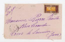 DAHOMEY (RF) - N° Yt 63 Obli.? POUR LONS LE SAUNIER - Dahomey (1899-1944)