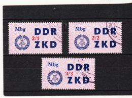 YZO920 DDR 1964 LAUFKONTROLLZETTEL ZKD Michl 40 I - III  Gestempelt  ZÄHNUNG Siehe ABBILDUNG - Dienstpost
