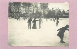MAMERS (sarthe)- Place Enneigée à Localiser (photo En 1899 Format  10,8cm X 7,8cm) - Plaatsen