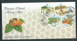 Pitcairn Islands 1999 Honey Bees Self Adhesive Set Of 4 FDC Official Unaddressed - Stamps