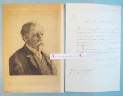 L.A.S 1855 Pierre-Luc-Charles CICE Peintre & Décorateur De Théâtre Né à Saint Cloud - Lettre Autographe - Saint Chéron - Autographes
