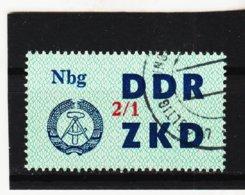 YZO921 DDR 1964 LAUFKONTROLLZETTEL ZKD Michl 41  Gestempelt  ZÄHNUNG Siehe ABBILDUNG - Dienstpost