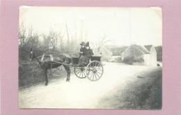 SAINT LONGIS (sarthe)- Attelage (photo Vers 1900 Format  11cm X 8cm) - Plaatsen